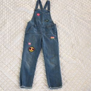 Girl's denim jumper